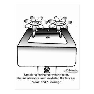 Reetiquete los grifos fríos y la congelación postal