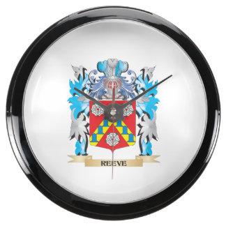 Reeve Coat of Arms - Family Crest Aqua Clocks