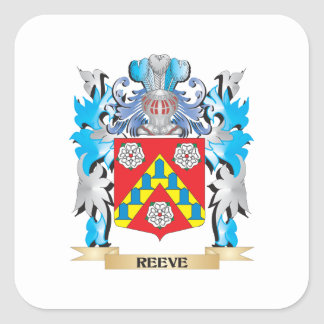 Reeve Coat of Arms - Family Crest Square Sticker