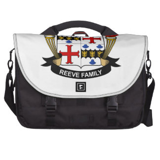 Reeve Family Crest Laptop Messenger Bag