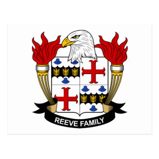 Reeve Family Crest Postcard