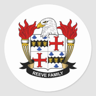 Reeve Family Crest Stickers