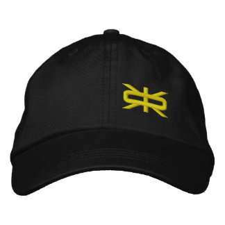 Reeverse  Small Logo Black/Canary Hat