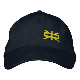 Reeverse  Small Logo Navy/Canary Hat