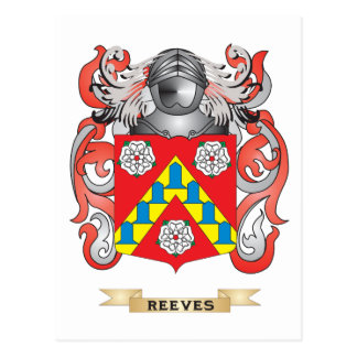 Reeves Coat of Arms (Family Crest) Postcard