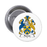 Reeves Family Crest 2 Inch Round Button