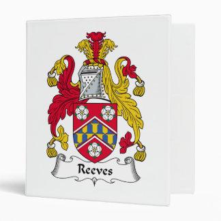 Reeves Family Crest Vinyl Binder