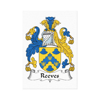 Reeves Family Crest Stretched Canvas Prints