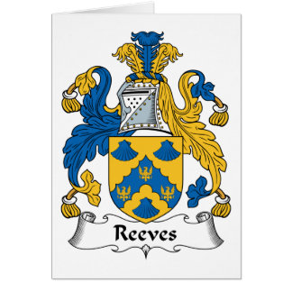 Reeves Family Crest Card