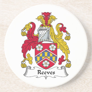 Reeves Family Crest Beverage Coasters