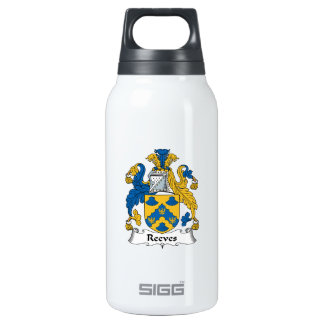 Reeves Family Crest Insulated Water Bottle