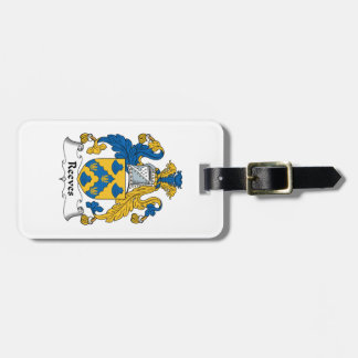Reeves Family Crest Tags For Bags