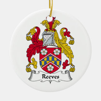 Reeves Family Crest Christmas Tree Ornament