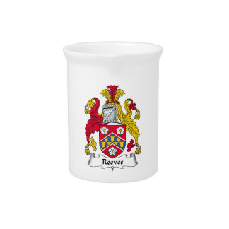 Reeves Family Crest Drink Pitcher