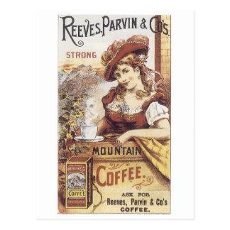 Reeves Parvin y café del Co. Postal