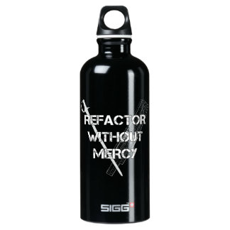 Refactor Without Mercy Aluminum Water Bottle
