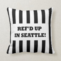 Ref'd Up In Seattle with Replacement Referees Throw Pillows