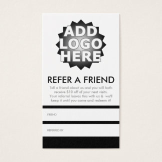 refer a friend business card