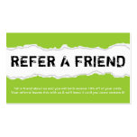 refer a friend page rip (color customizable) business card templates