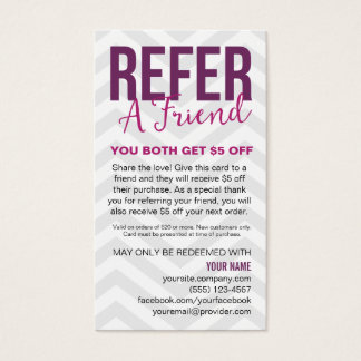 Refer A Friend Referral Card Business Cards
