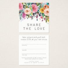 Refer A Friend Referral Salon Client Card Set at Zazzle