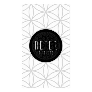refer a friend sacred geometry business card