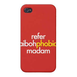 """Refer Aibohphobia, Madam"" iPhone 4 Cases"