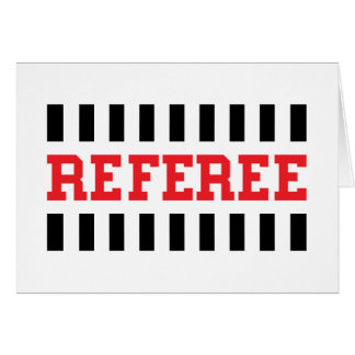 Referee black and red design card