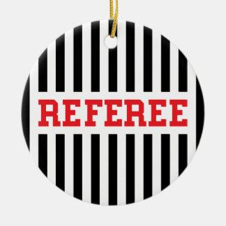 Referee black and red design ceramic ornament