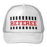 Referee black and red design hat