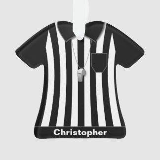 Referee Black Sleeves Uniform Personalized Ornament