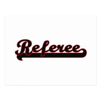 Referee Classic Job Design Postcard