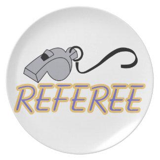 Referee Dinner Plate