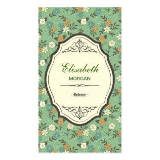 Referee - Elegant Vintage Floral Double-Sided Standard Business Cards (Pack Of 100)