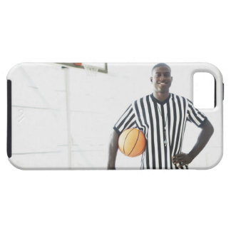 Referee holding basketball on court iPhone SE/5/5s case