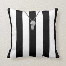 Referee Jersey Custom Number Template Pillow