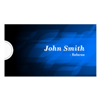 Referee - Modern Dark Blue Double-Sided Standard Business Cards (Pack Of 100)