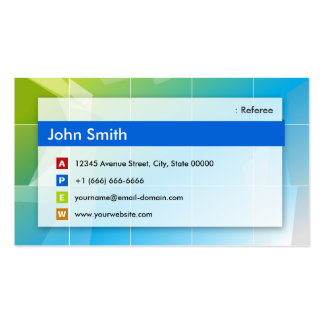 Referee - Modern Multipurpose Double-Sided Standard Business Cards (Pack Of 100)