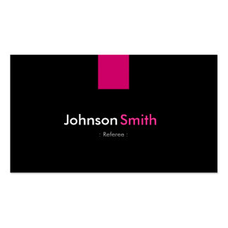 Referee Modern Rose Pink Double-Sided Standard Business Cards (Pack Of 100)