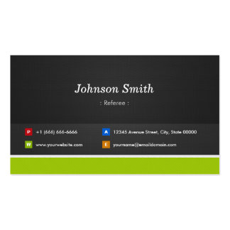 Referee - Professional and Premium Double-Sided Standard Business Cards (Pack Of 100)