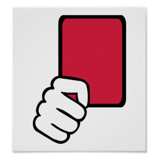 Referee red card poster