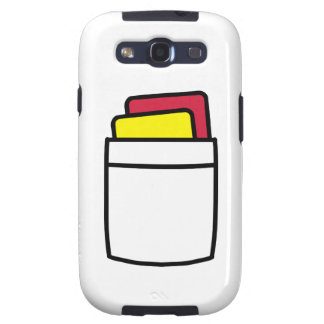 Referee red yellow card galaxy s3 cover