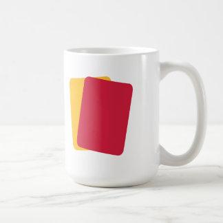 Referee red yellow card coffee mug