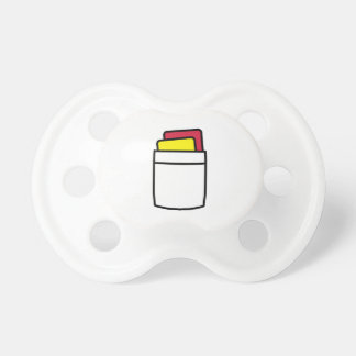 Referee red yellow card pacifier