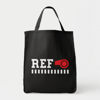 Referee - ref - design with red whistle canvas bag