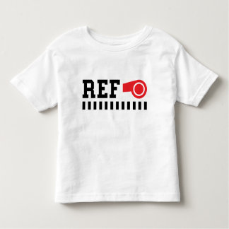 Referee - ref - design with red whistle toddler t-shirt