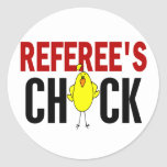 REFEREE'S CHICK ROUND STICKERS