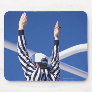 Referee signaling touchdown or successful field mouse pad