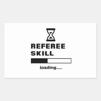 Referee skill Loading...... Rectangular Sticker