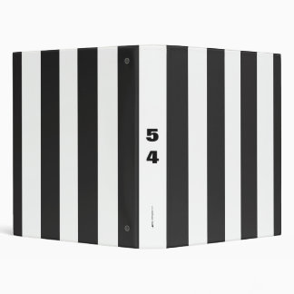 Referee Stripes 3 Ring Binder